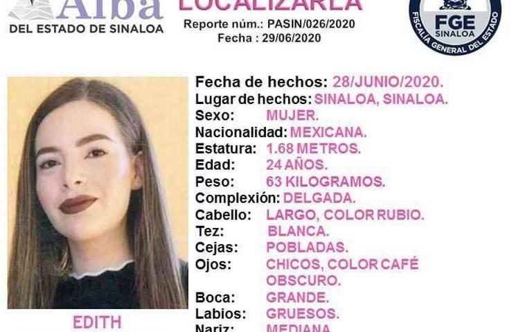 Activan Protocolo Alba para localizar a Edith - El Sol de Sinaloa